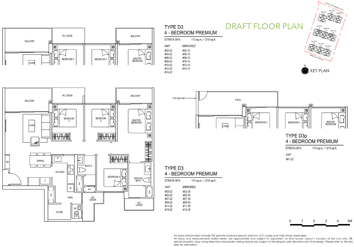 iNz Residence EC Floor Plan 4 Bedroom Premium D3 DRAFT