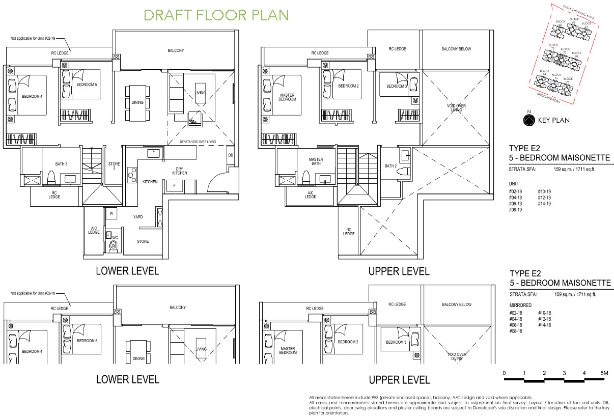 iNz Residence Floor Plan 5 Bedroom Maisonette E2 DRAFT