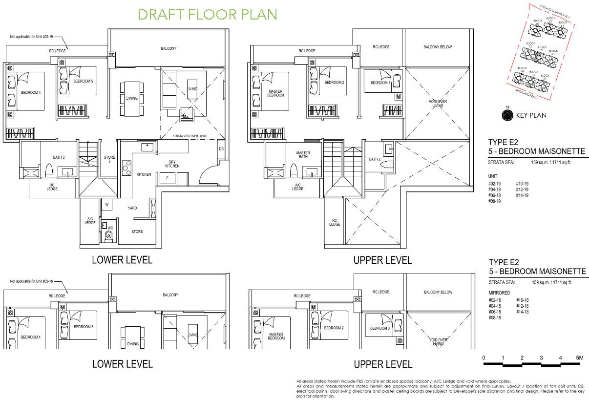 iNz Residence Price Ranges . 5 Bedroom E2 DRAFT