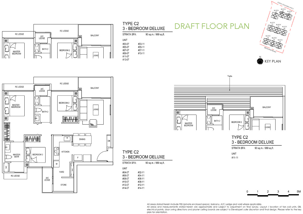 iNz Residences Floor Plan 3 Bedroom Deluxe C2 DRAFT